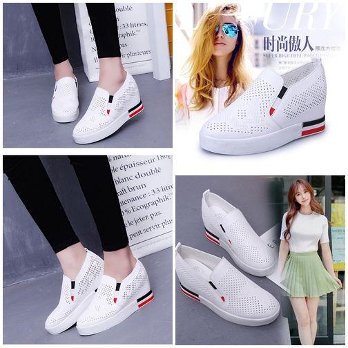 Shs802 White Sepatu Sport Fashion Wanita Sepatu Sepatu Wanita