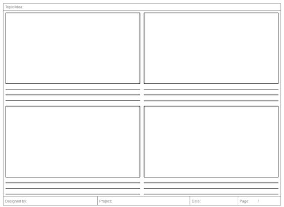 2X2 Storyboard Template | User Experience | Pinterest | Storyboard