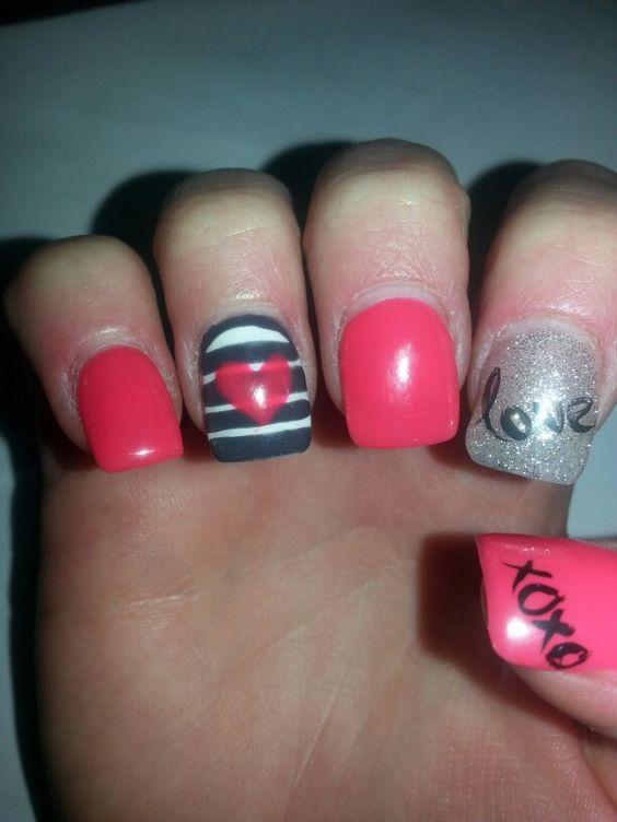 valentine day nails