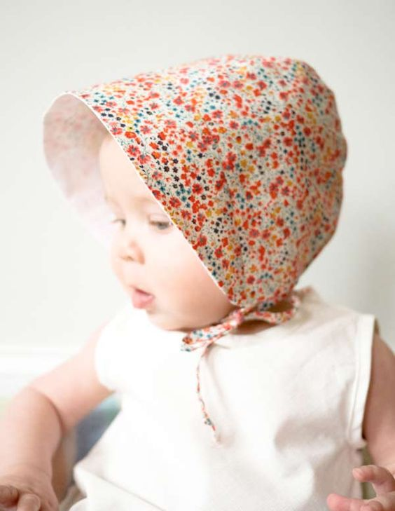 chapeau bebe soleil sunbonnet Patron gratuit : Un chapeau trop chou pour bébé