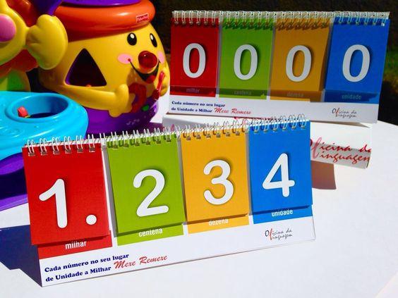 Jogo: De Unidade a Milhar cada um no seu lugar – Mexe e remexe - Recurso prático para levar o aluno a compreender o significado do Sistema de Numeração Decimal, bem como compreender e fazer uso do valor posicional dos algarismos da Unidade até Milhar. Através da manipulação dos cartões, o aluno/usuário irá construir os números, aprender  o seu valor de acordo com a posição ocupada, bem como será estimulado a praticar a leitura e escrita dos mesmos.  Saiba mais:  http://oficinadalinguagem.com