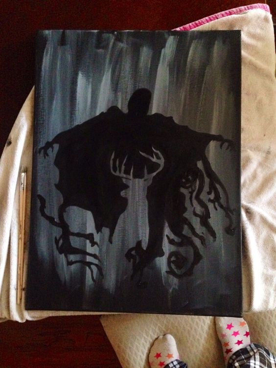 Canvases harry potter canvas and i want to on pinterest for Fun canvas art ideas