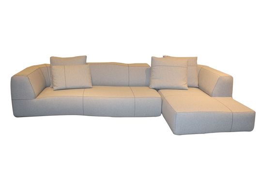 Bu0026B Italia Bend Sofa With Right Chaise In Light Fabric From Space Furniture  | Bu0026B Italia | Pinterest