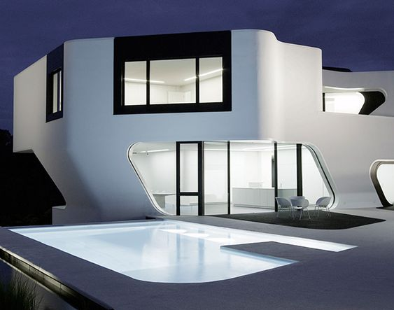 modern residential house in Germany