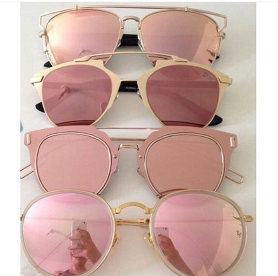 Pinterest: eighthhorcruxx. sunglasses pink sunglasses mirrored sunglasses dior aviator sunglasses summer accessories rose gold swag shades