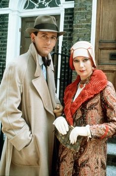 James Warwick and Francesca Annis and Tommy and Tuppence Beresford, two other Agatha Christie sleuths.