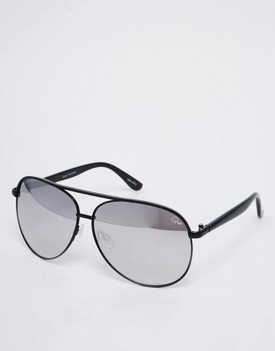 Quay Australia Macaw Mirror Lense Aviator Sunglasses