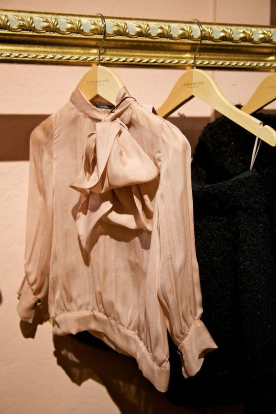 Lamantine beautiful silk blouse for girlswear winter 2012