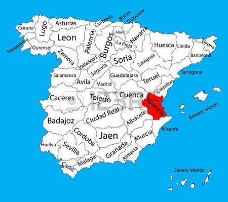 Mapa De Valencia España.Valencia Mapa Espana Mapa Vectorial De La Provincia Alto