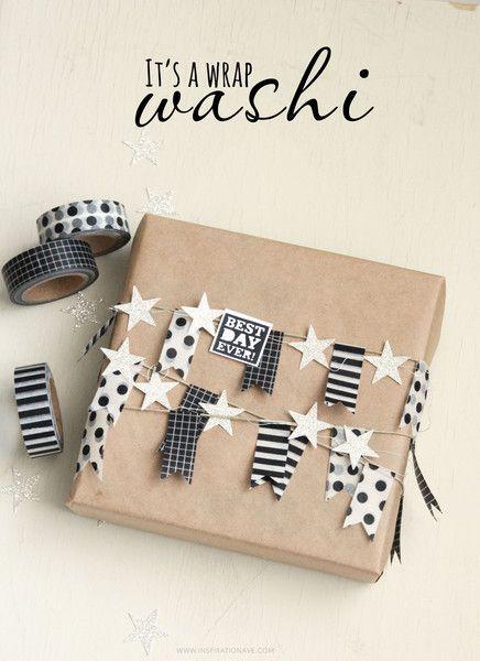 Washi Tape Wooden Bracelets #giftpackaging