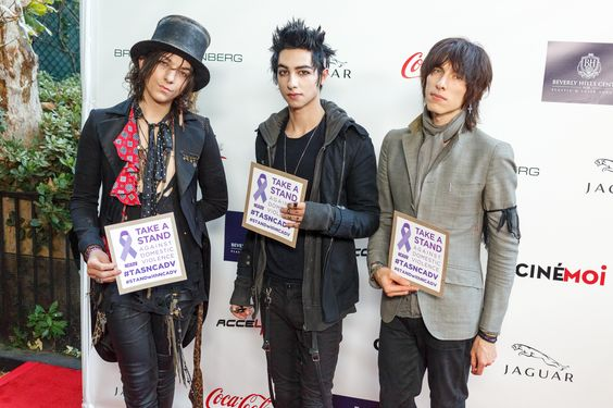 These guys rock stars for NCADV, literally. Thank you to the Palaye Royale band for taking a stand against domestic violence. #STANDwithNCADV