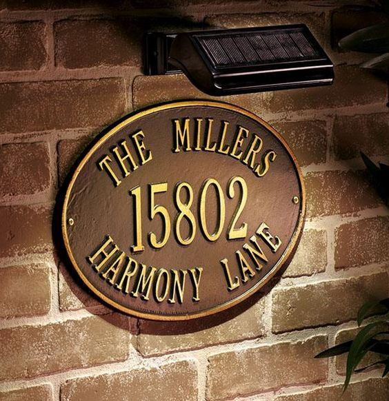 personalized house number plaque