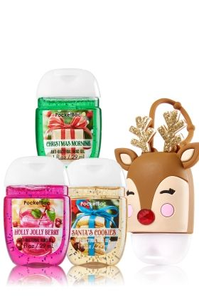 Most Wonderful Time of the Year 3-Pack PocketBac & Light-Up Holder - Soap/Sanitizer - Bath & Body Works