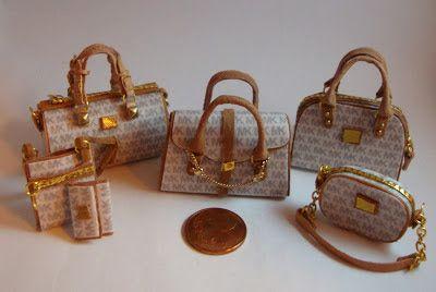 Miniaturas bolsos: Bolsos homenaje combinados (13)