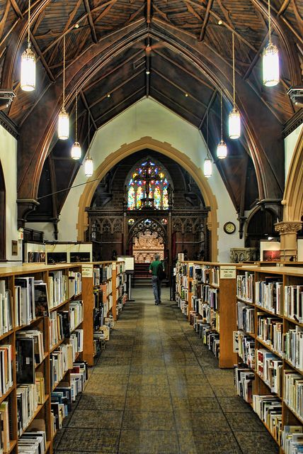 St. Matthews public library, Quebec City - once a place of worship, now a public library!