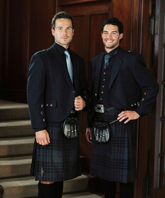 Grey Spirit Tartan Kilts for the Groom // Groom Wedding Ideas at Slaters