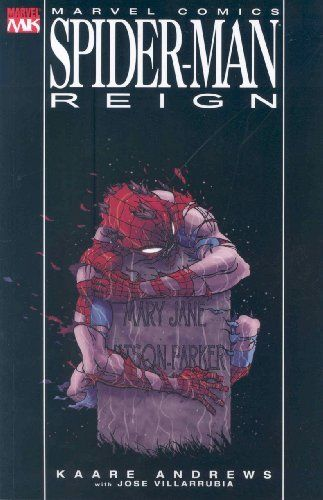 Spider-Man: Reign by Kaare Andrews, http://www.amazon.com/dp/0785126651/ref=cm_sw_r_pi_dp_excDrb1X8A1XY