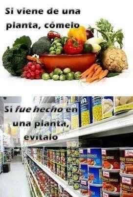 Lo natural es lo mejor  el 80% debe estar en tu refrigerador y solo el 20% en tu alacena.