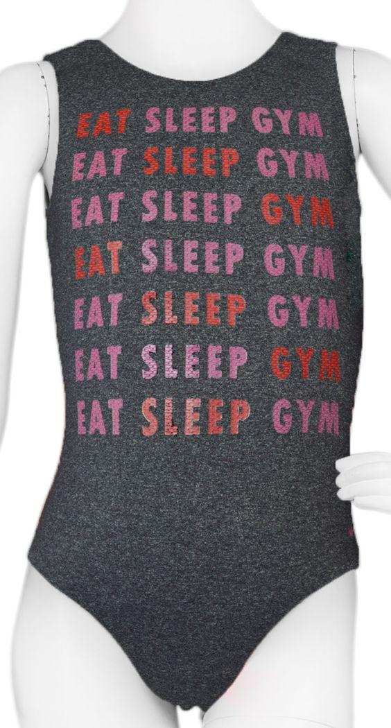 Eat Sleep Gym Leotard #leotards #leotard #gymnastics #gymnast #eatsleepgym