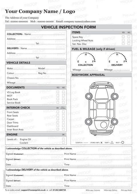 Vehicle Inspection Sheet Template Word Vehicle Inspection