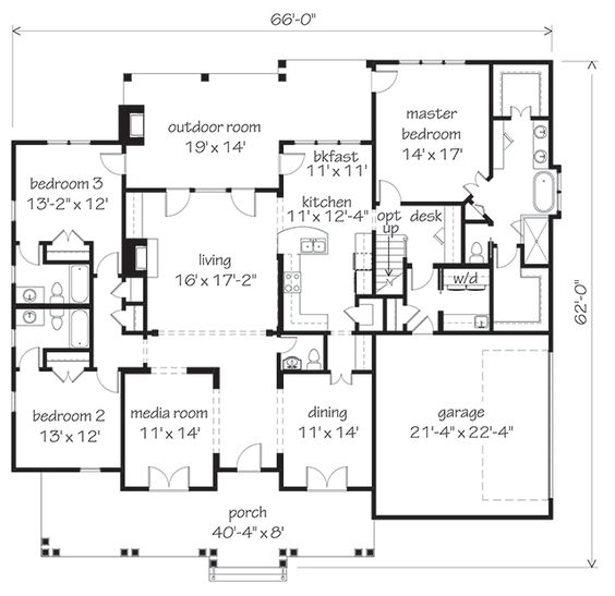 Orange grove southern living house plans my favorite for Southern living house plans with keeping rooms