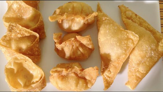 Traditional How To Make Fried Wontons With Cream Cheese Shrimp-Asian Food Recipes, .....