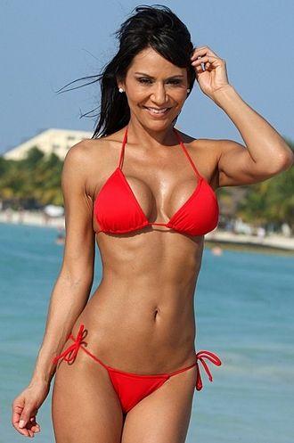 Sexy red string bikini