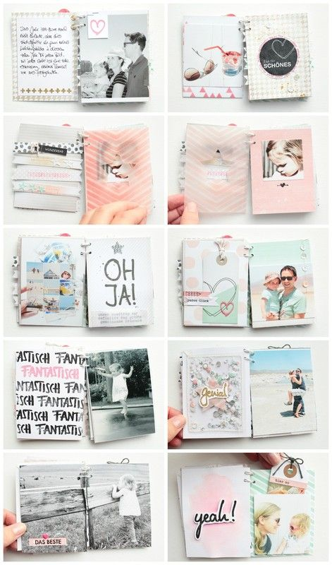 Sweet, but not too sweet, airy mini book _The best of 2014 by SteffiandAnni at @studio_calico