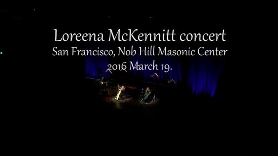 Loreena McKennitt concert 2016 March 19, San Francisco