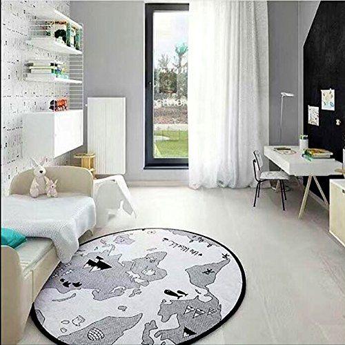 World Map Baby Play Game Crawling Mat Baby Kids Floor Rug Carpet Blanket Playmat