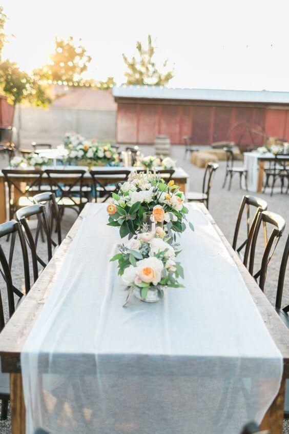 Cute Cornflower Blue And Peach Wedding Color Ideas Peach Wedding