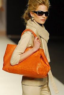 Love the orange and beige.