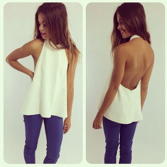 WoW!! White back open shirt with jeans~ OUTFIT ~