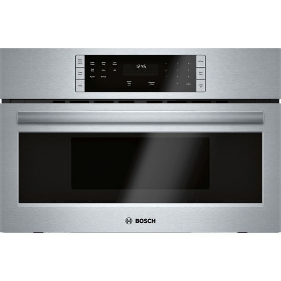 Bosch 500 Series Hmb50152uc 1 6 Cu Ft Built In Microwave With Sensor Cooking Controls In Stainless Steel With Images Built In Microwave Built In Microwave Oven Stainless Steel Microwave