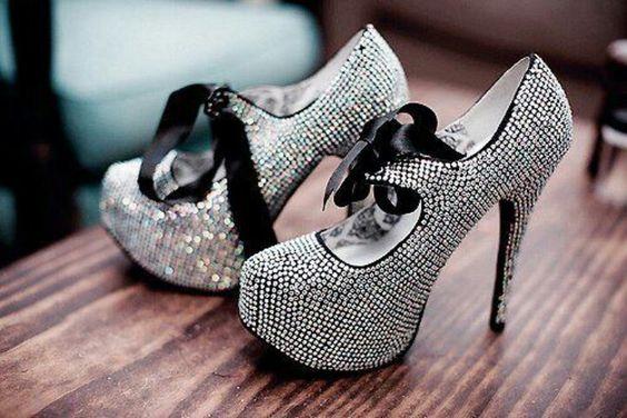 Sparkly bedazzled heels