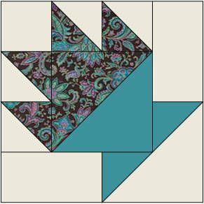 Quilt Block Patterns - Cactus Pot Quilt BlockPattern
