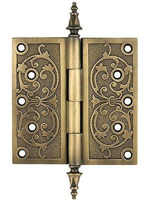 Antique brass hinges 6 decorative victorian door hinge for Fairy doors for sale