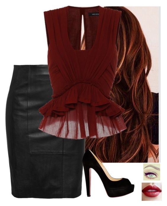 """""""Untitled #515"""" by mickeym0use ❤ liked on Polyvore featuring moda, Isabel Marant e Christian Louboutin"""