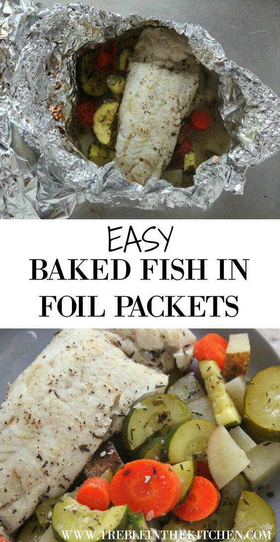 Baked Fish Foil Packets And Fish On Pinterest