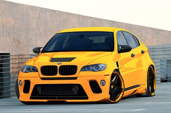 This BMW X6M is CRAYYYzy - yellow car