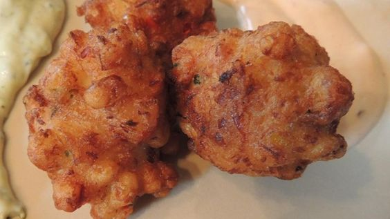 These gluten free lobster fritters have a tropical twist with shredded ...