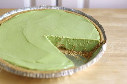 a green avocado pie for st. pat's! great idea. just put your favorite guac in there.