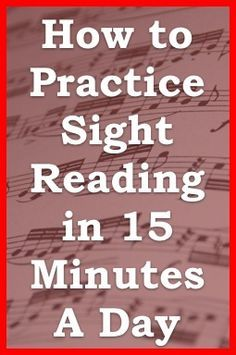 tips for practicing sight reading reading secrets from one minute music lesson practice. Black Bedroom Furniture Sets. Home Design Ideas