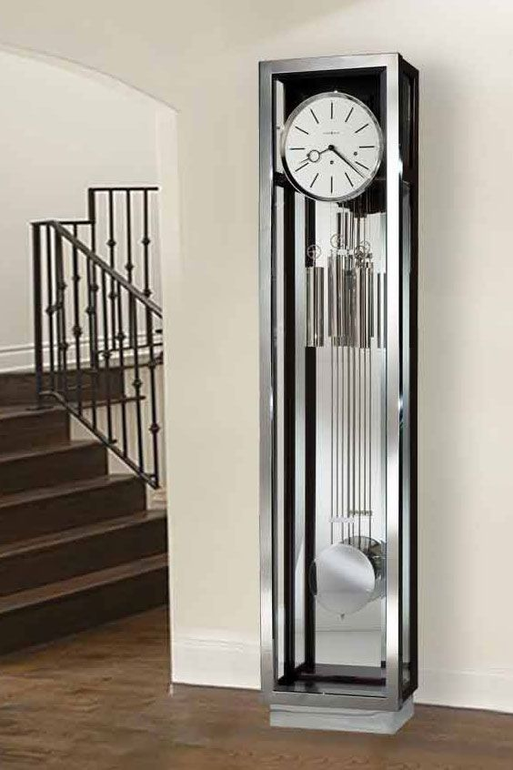The Modern Grandfather Clock Not Your Grandfather S Clock Art Home Today S Mod Modern Grandfather Clock Grandfather Clock Vintage Inspired Interiors