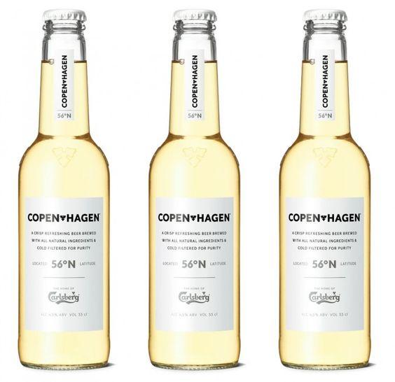 Copenhagen beer by Carlsberg.