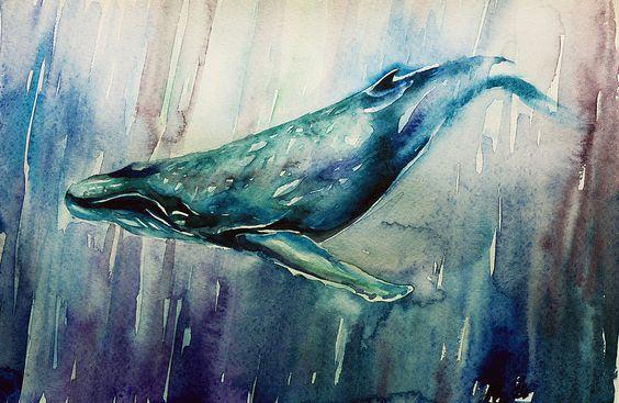 big blue whale by MariaBabinceva