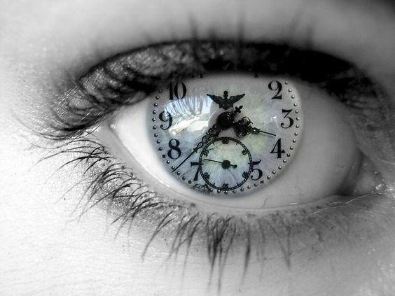 """""""Tick Tock"""" - white clock color contacts for eyes"""