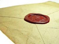 A long lost forgotten love letter with a most beautiful wax seal.