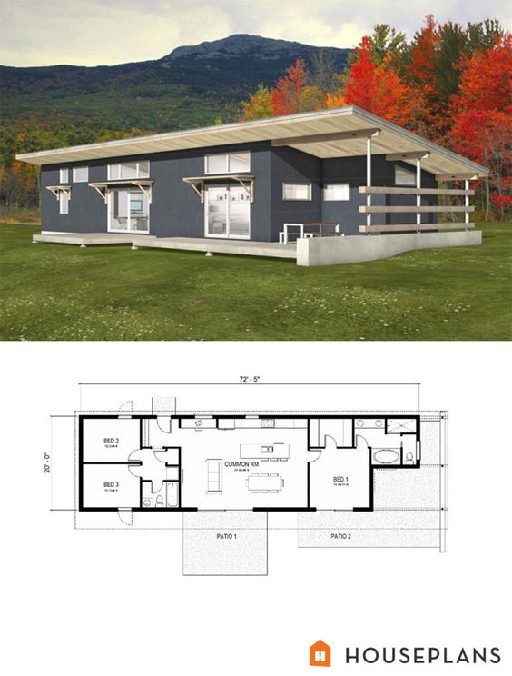 Powder be cool and the modern on pinterest - Simple modern house floor plans ...