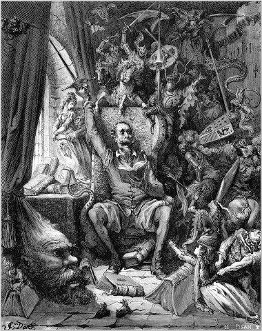 """""""El Quijote"""" de Gustave Doré."""